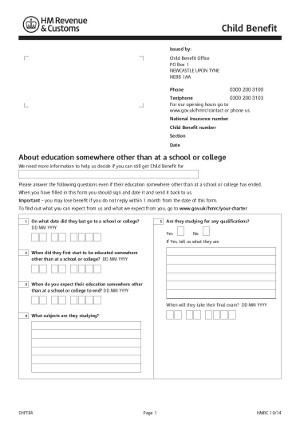 Child Benefit Form Hmrc Modified Child Benefit Form November 2014
